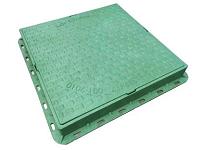 люк канализационный квадрантный зеленый
