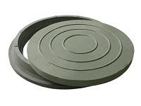 люк полимерпесчаный зеленый до 2т