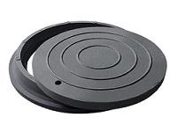 люк полимерпесчаный черный с замком до 2т
